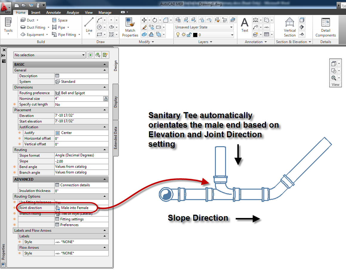 Inside the System: AutoCAD MEP 2011 - Enhanced Sloped Piping for